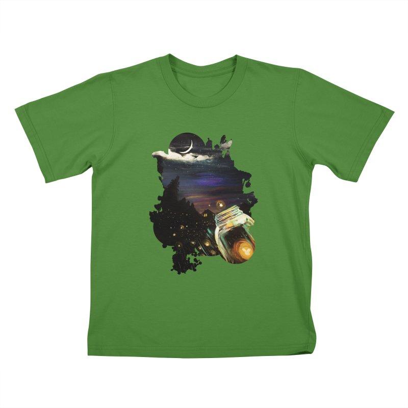 Firefly Sky Kids T-Shirt by adamzworld's Artist Shop