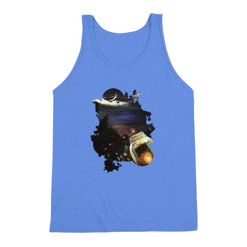 Firefly Sky Men's Triblend Tank by adamzworld's Artist Shop