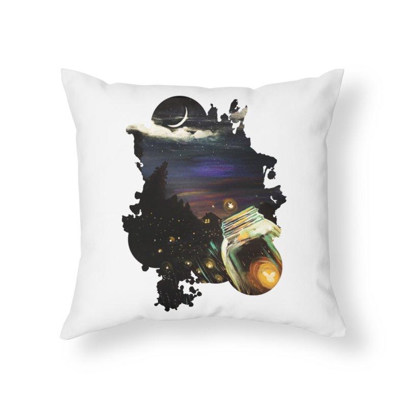 Firefly Sky Home Throw Pillow by adamzworld's Artist Shop