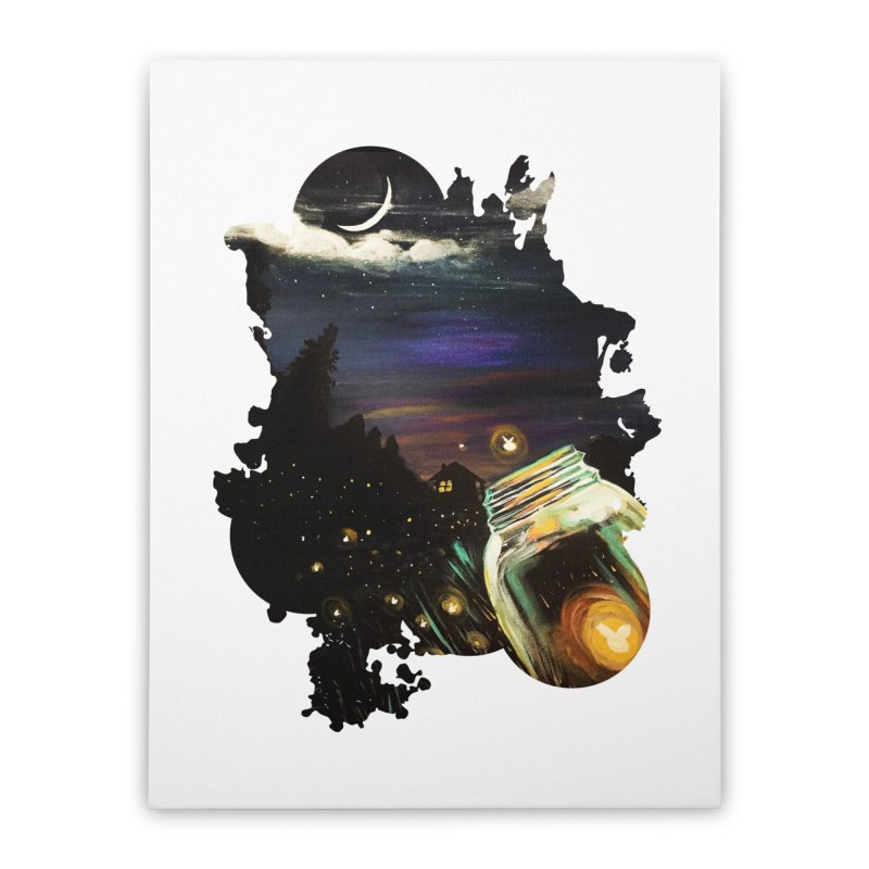 Firefly Sky Home Stretched Canvas by adamzworld's Artist Shop