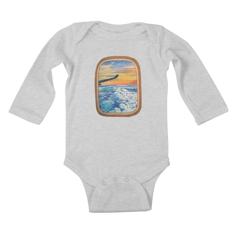 Above The Clouds Kids Baby Longsleeve Bodysuit by adamzworld's Artist Shop