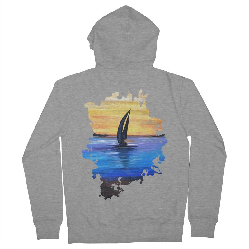 Sail Away Women's Zip-Up Hoody by adamzworld's Artist Shop