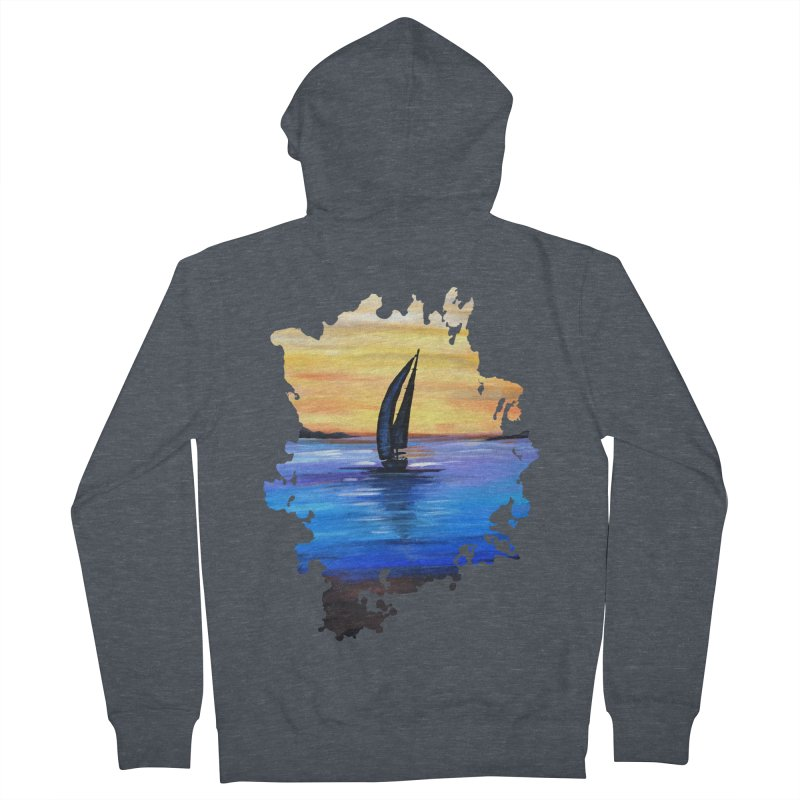 Sail Away Men's Zip-Up Hoody by adamzworld's Artist Shop