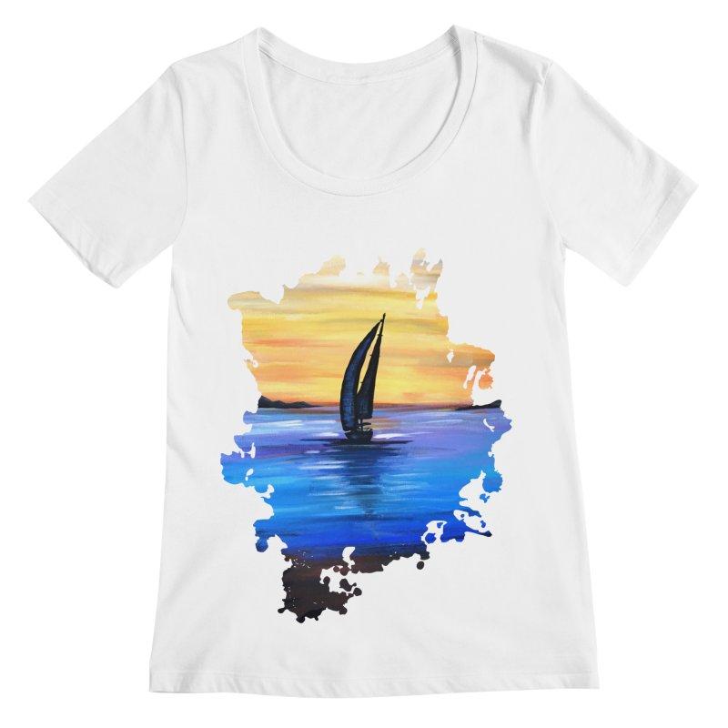 Sail Away Women's Scoopneck by adamzworld's Artist Shop