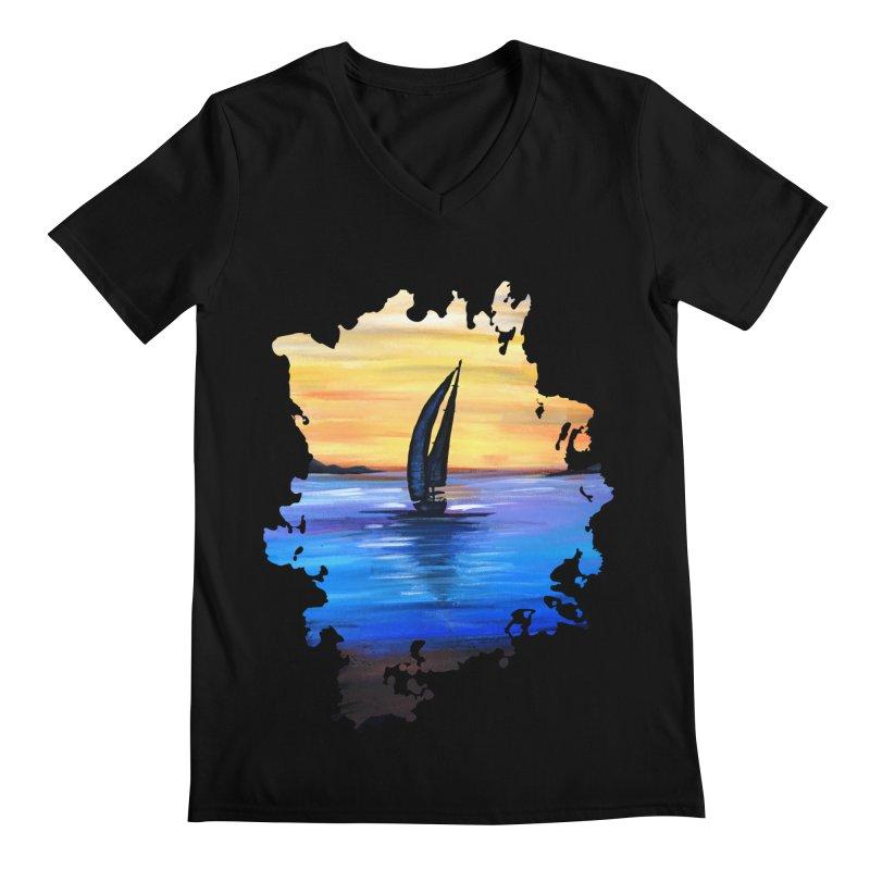 Sail Away Men's V-Neck by adamzworld's Artist Shop