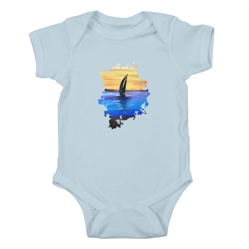 Sail Away Kids Baby Bodysuit by adamzworld's Artist Shop