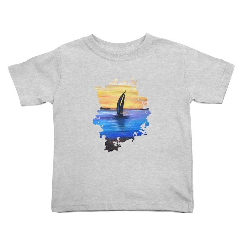 Sail Away Kids Toddler T-Shirt by adamzworld's Artist Shop
