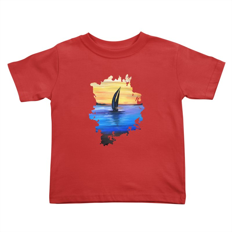 Sail Away Kids Toddler T-Shirt by adamzworld's Artist Shop