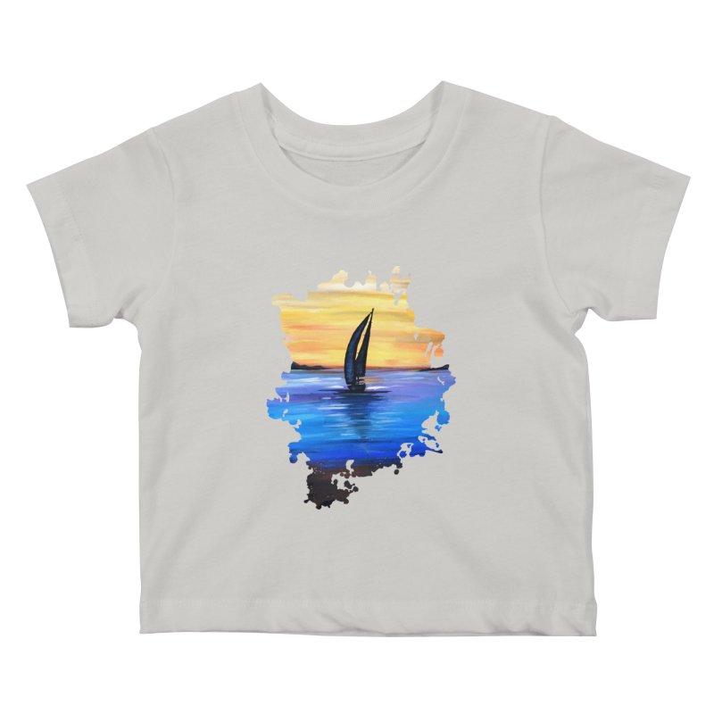 Sail Away Kids Baby T-Shirt by adamzworld's Artist Shop