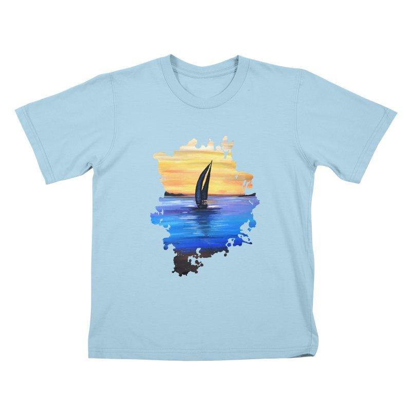 Sail Away Kids T-Shirt by adamzworld's Artist Shop