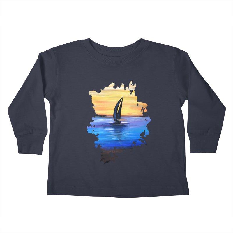 Sail Away Kids Toddler Longsleeve T-Shirt by adamzworld's Artist Shop
