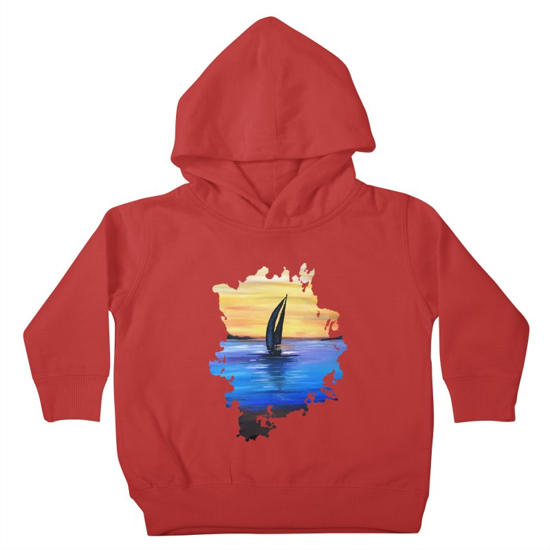 Sail Away Kids Toddler Pullover Hoody by adamzworld's Artist Shop
