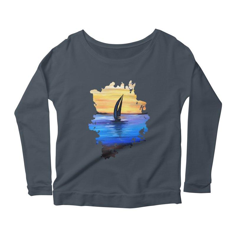 Sail Away Women's Longsleeve Scoopneck  by adamzworld's Artist Shop