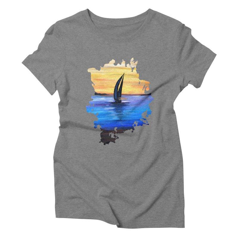 Sail Away Women's Triblend T-Shirt by adamzworld's Artist Shop