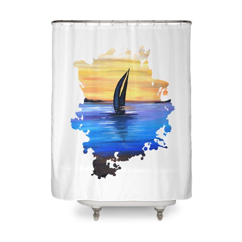 Sail Away Home Shower Curtain by adamzworld's Artist Shop