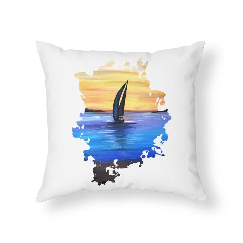 Sail Away Home Throw Pillow by adamzworld's Artist Shop