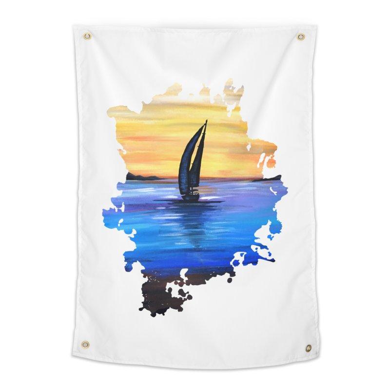 Sail Away Home Tapestry by adamzworld's Artist Shop