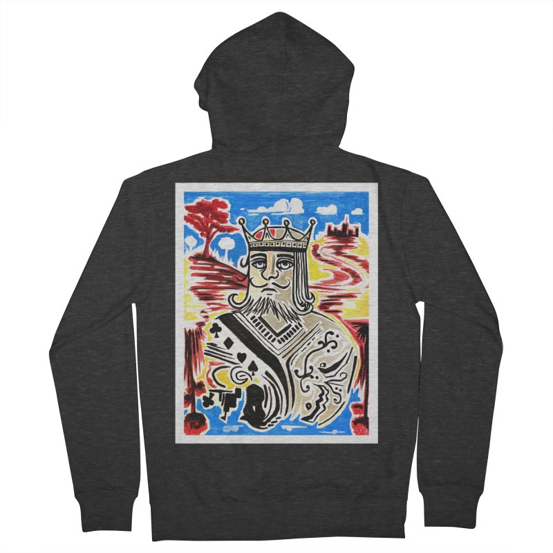 King Of Cards Men's Zip-Up Hoody by adamzworld's Artist Shop