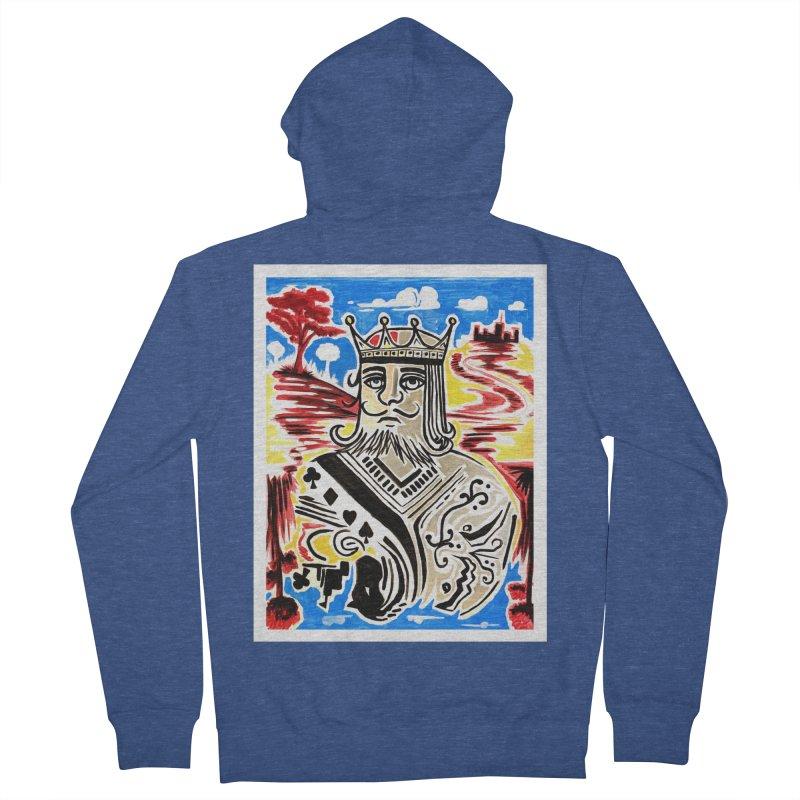 King Of Cards Men's Zip-Up Hoody by adamzworld's Artist Shop