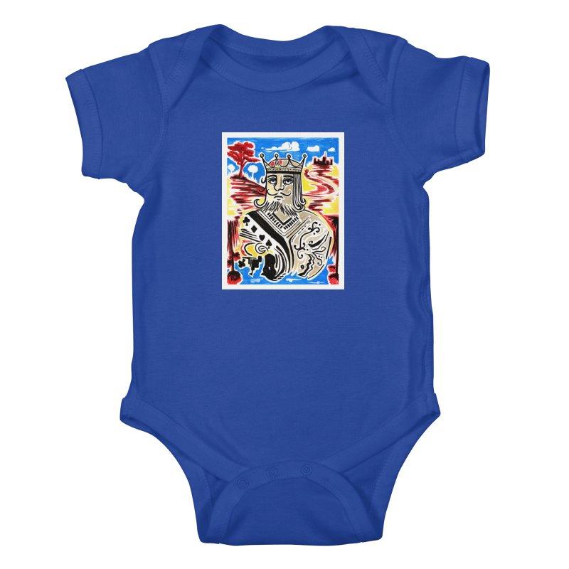King Of Cards Kids Baby Bodysuit by adamzworld's Artist Shop