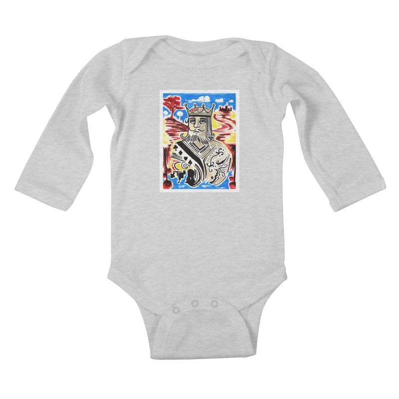 King Of Cards Kids Baby Longsleeve Bodysuit by adamzworld's Artist Shop