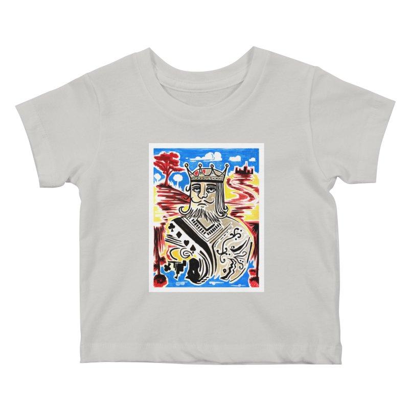 King Of Cards Kids Baby T-Shirt by adamzworld's Artist Shop