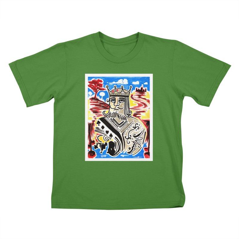 King Of Cards Kids T-Shirt by adamzworld's Artist Shop