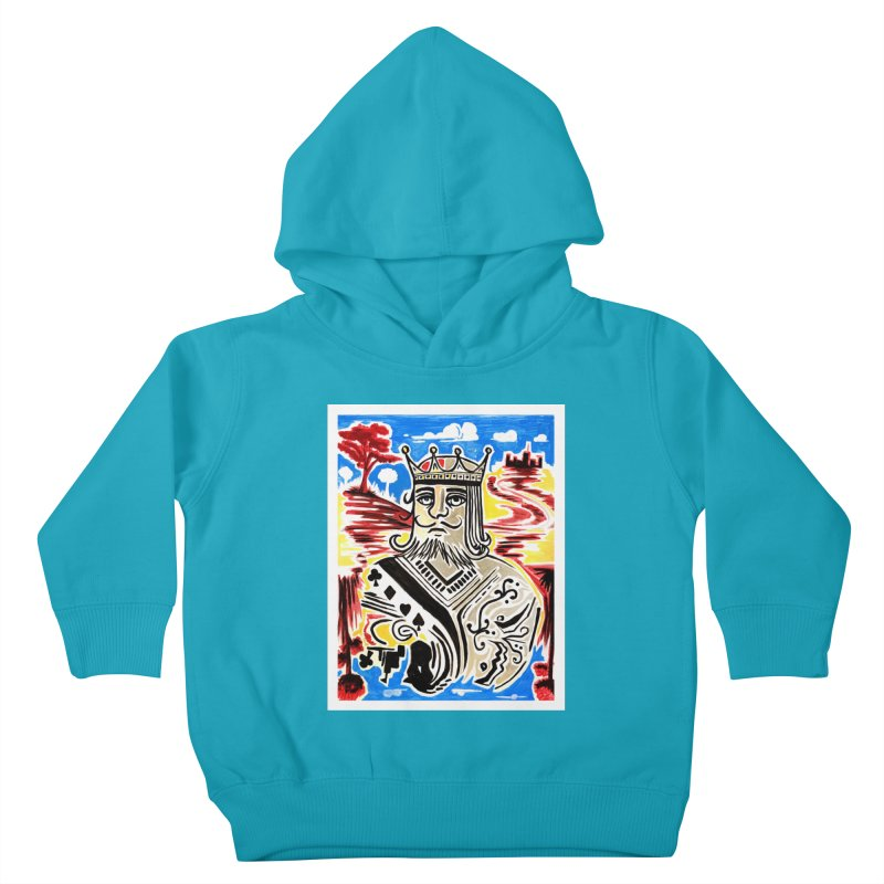 King Of Cards Kids Toddler Pullover Hoody by adamzworld's Artist Shop