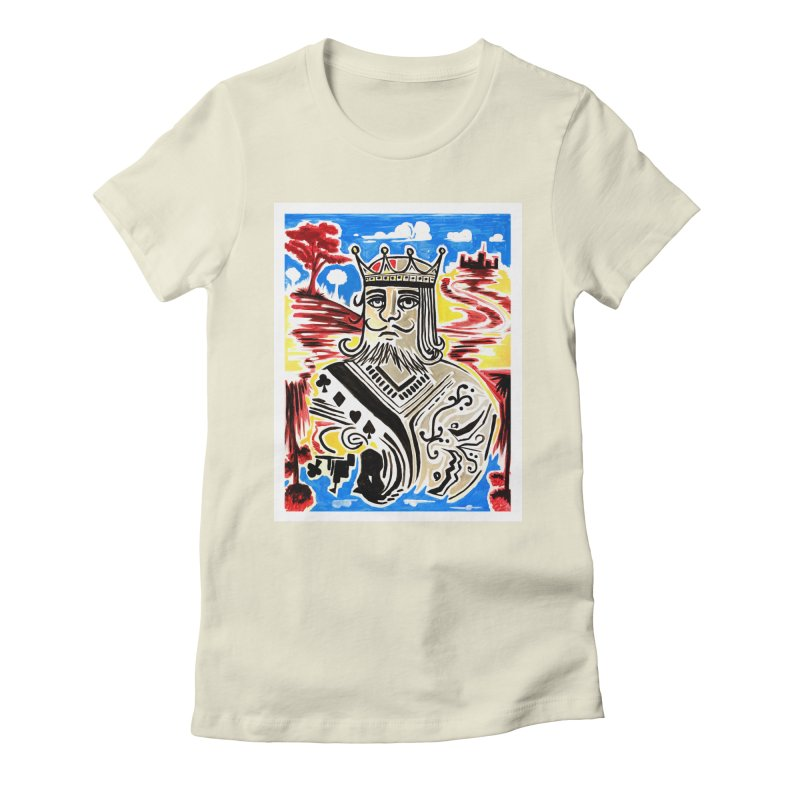 King Of Cards Women's Fitted T-Shirt by adamzworld's Artist Shop