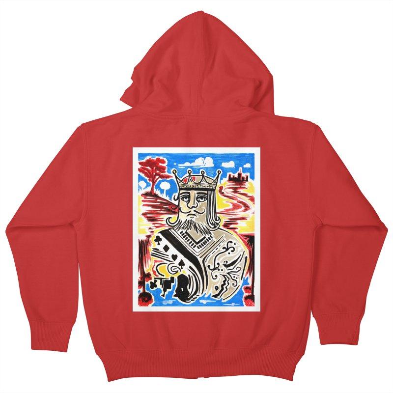 King Of Cards Kids Zip-Up Hoody by adamzworld's Artist Shop
