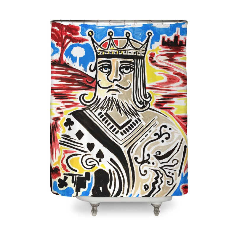 King Of Cards Home Shower Curtain by adamzworld's Artist Shop