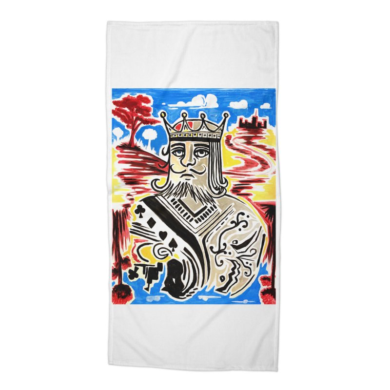 King Of Cards Accessories Beach Towel by adamzworld's Artist Shop