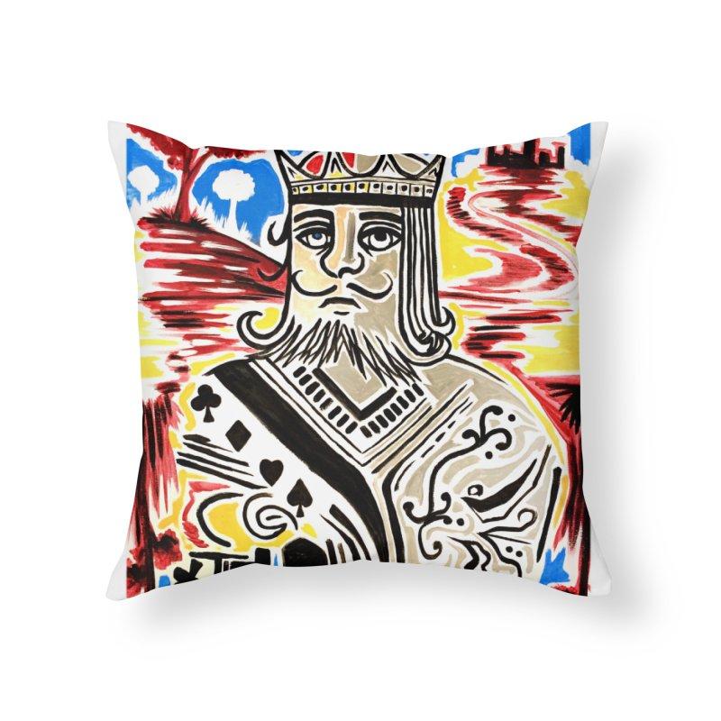 King Of Cards Home Throw Pillow by adamzworld's Artist Shop