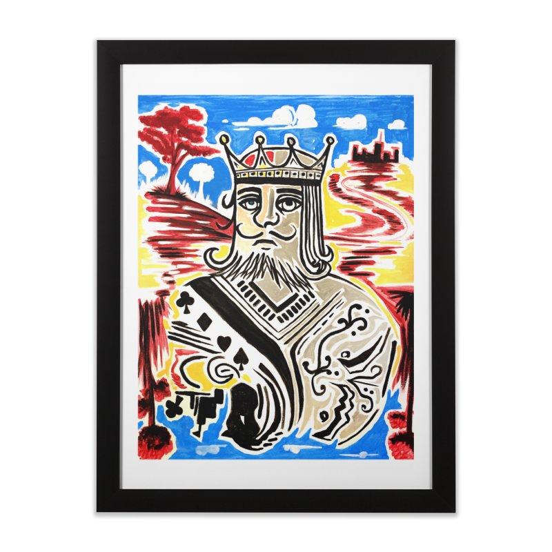 King Of Cards Home Framed Fine Art Print by adamzworld's Artist Shop