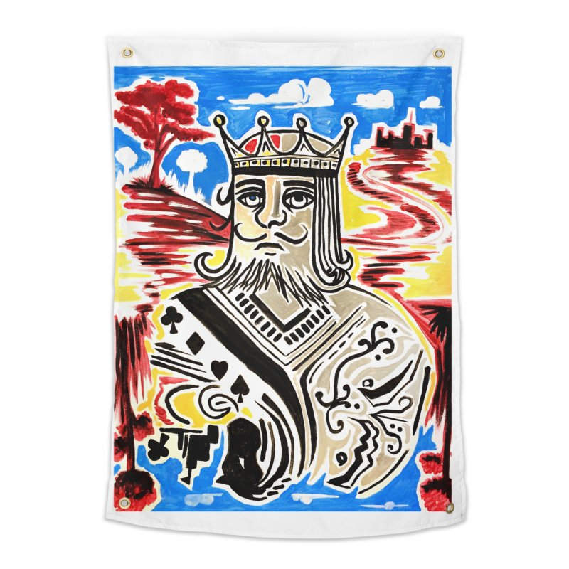 King Of Cards Home Tapestry by adamzworld's Artist Shop