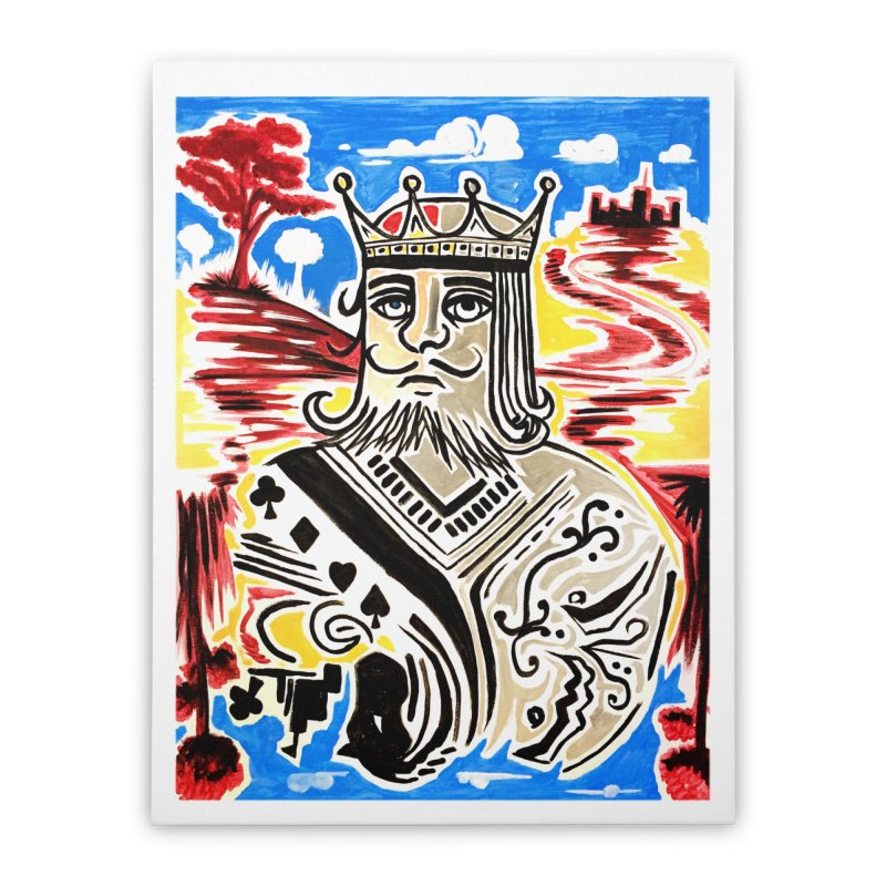 King Of Cards Home Stretched Canvas by adamzworld's Artist Shop