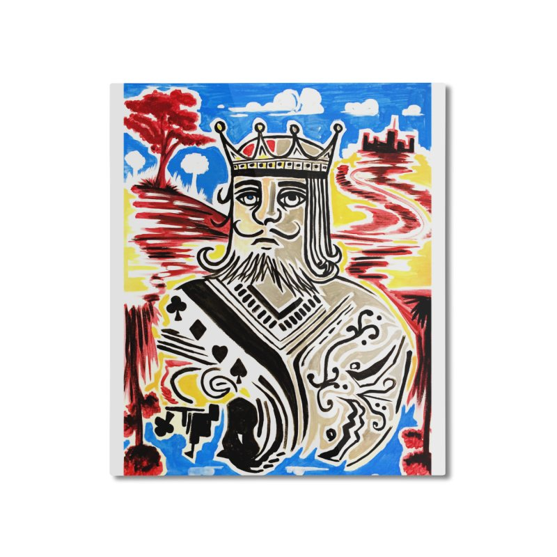 King Of Cards Home Mounted Aluminum Print by adamzworld's Artist Shop