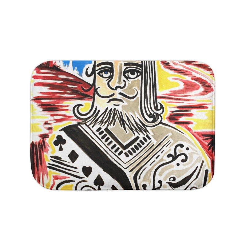 King Of Cards Home Bath Mat by adamzworld's Artist Shop