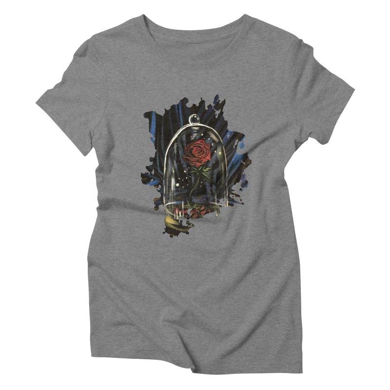 Enchanted Rose Women's Triblend T-Shirt by adamzworld's Artist Shop