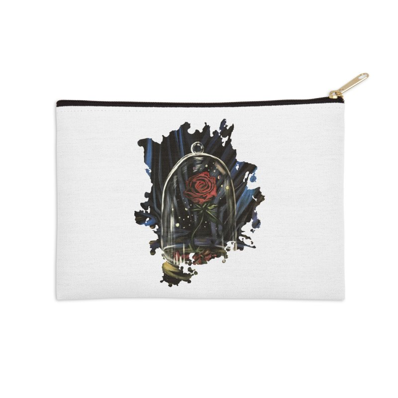 Enchanted Rose Accessories Zip Pouch by adamzworld's Artist Shop