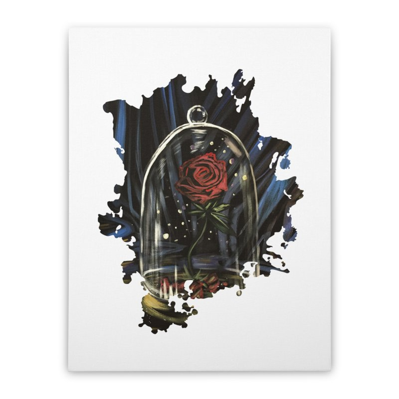 Enchanted Rose Home Stretched Canvas by adamzworld's Artist Shop