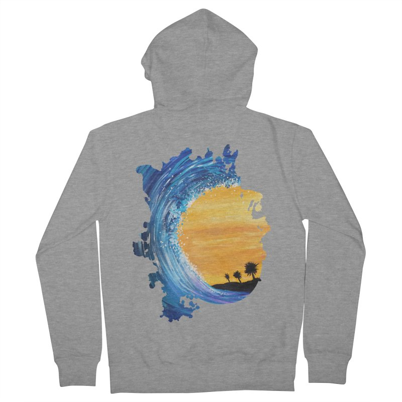 Tidal Wave Men's Zip-Up Hoody by adamzworld's Artist Shop
