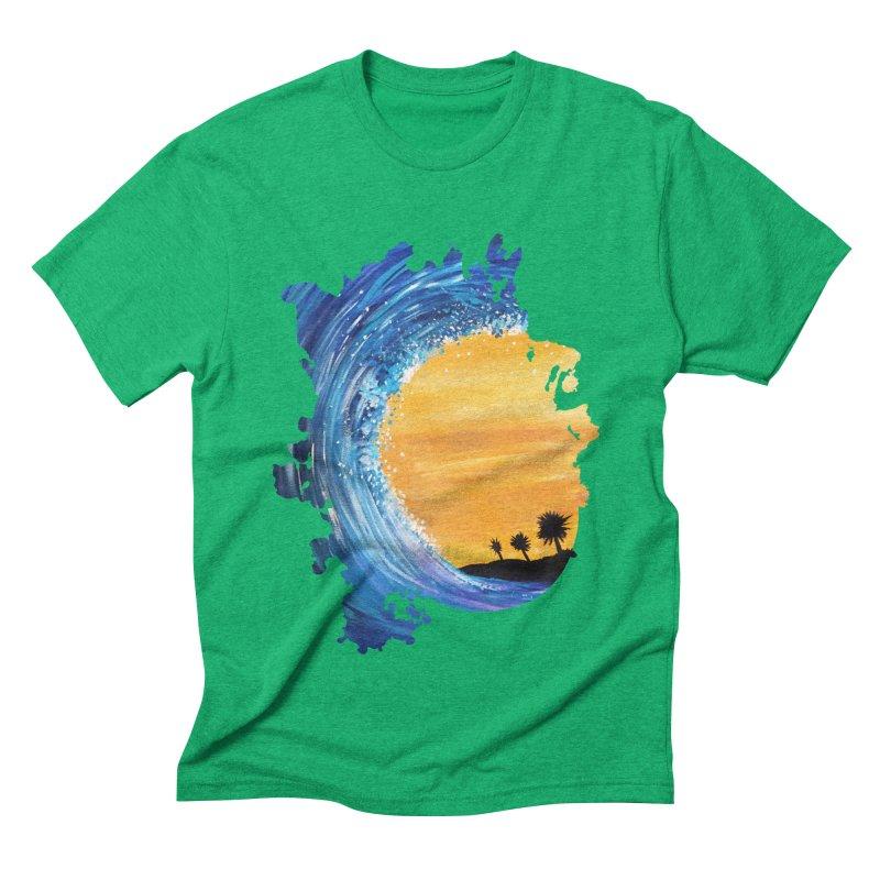 Tidal Wave Men's Triblend T-Shirt by adamzworld's Artist Shop