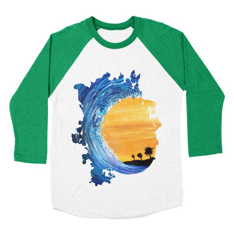 Tidal Wave Women's Baseball Triblend T-Shirt by adamzworld's Artist Shop
