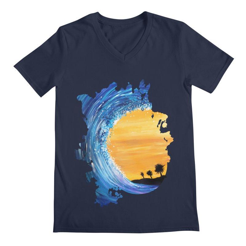 Tidal Wave Men's V-Neck by adamzworld's Artist Shop