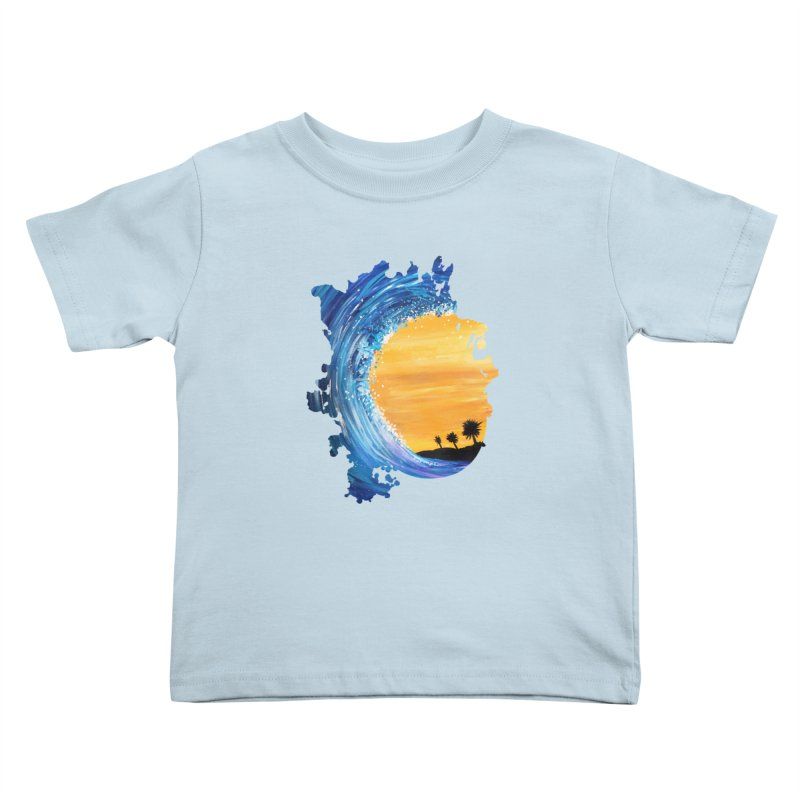 Tidal Wave Kids Toddler T-Shirt by adamzworld's Artist Shop