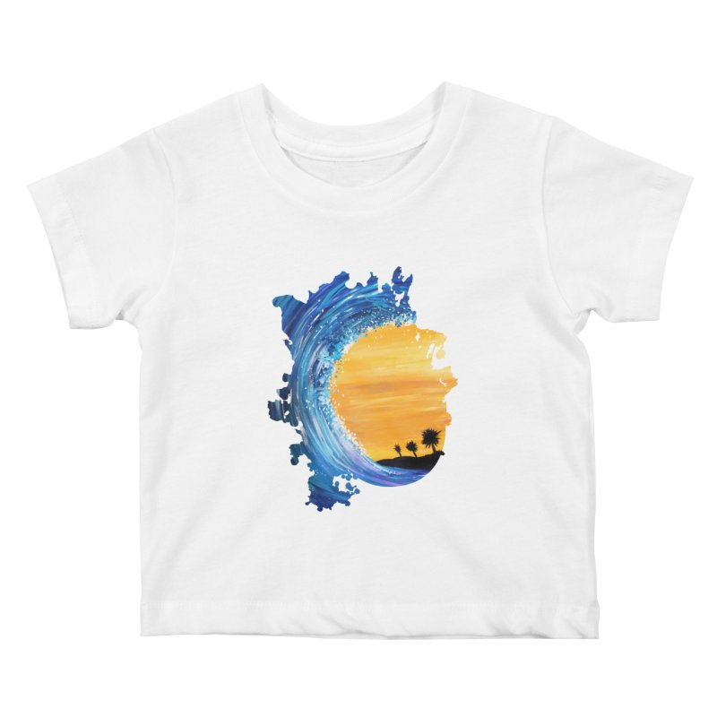 Tidal Wave Kids Baby T-Shirt by adamzworld's Artist Shop