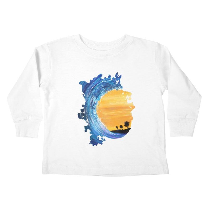 Tidal Wave Kids Toddler Longsleeve T-Shirt by adamzworld's Artist Shop