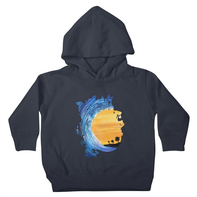 Tidal Wave Kids Toddler Pullover Hoody by adamzworld's Artist Shop
