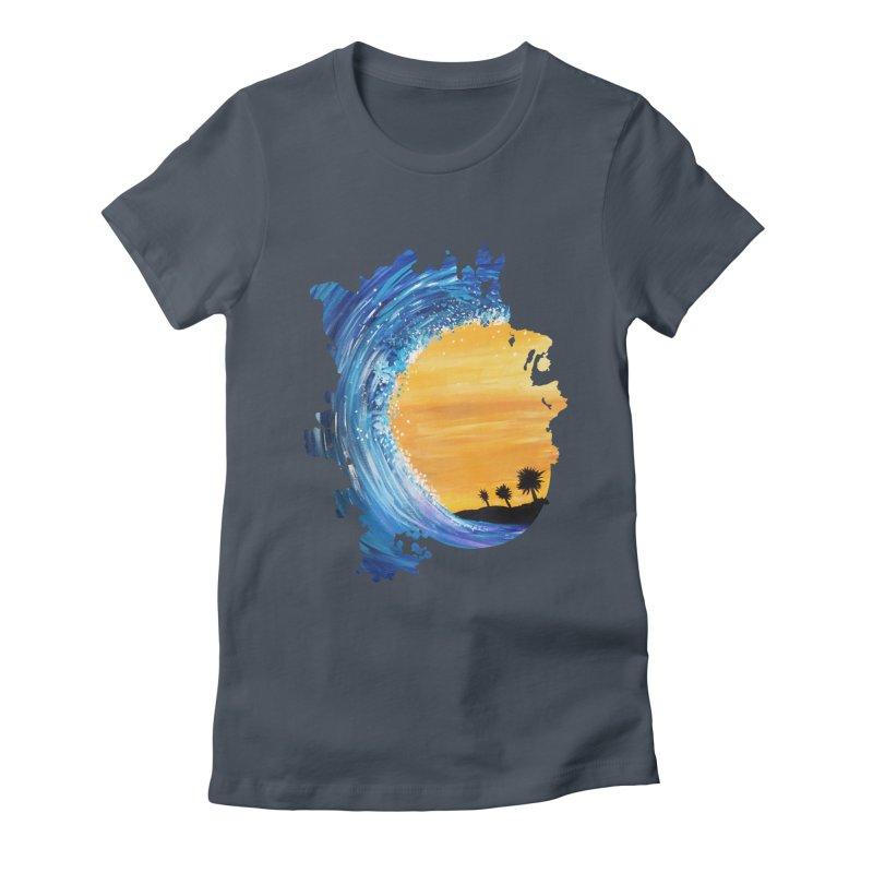 Tidal Wave Women's Fitted T-Shirt by adamzworld's Artist Shop
